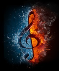 Treble Clef - Fire & Water